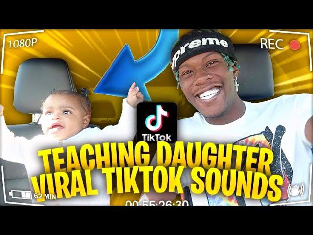 teaching my 1yr old daughter viral tiktok sounds